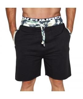 Bloke Active Shorts Camo Trims Black