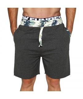 Bloke Active Shorts Camo Trim Dark Grey